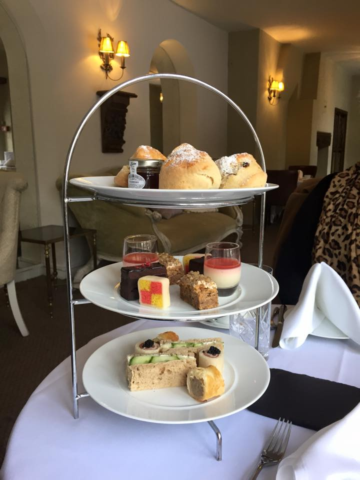 Afternoon tea at Seckford Hall cake stand
