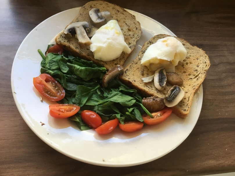 healthy breakfast poached eggs for productivity